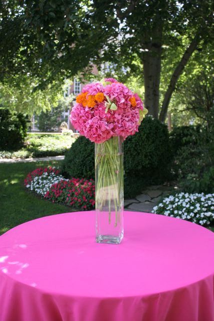 Meridian House Wedding in Washington DC with pink, orange and green flowers