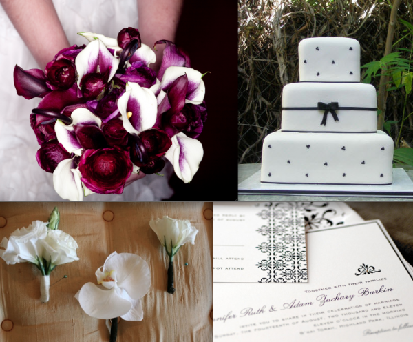 Black and White Wedding Decor by Elegance and Simplicity