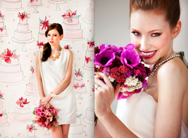 Elegance & Simplicity Bridal bouquets featured in Eco-Beautiful Weddings