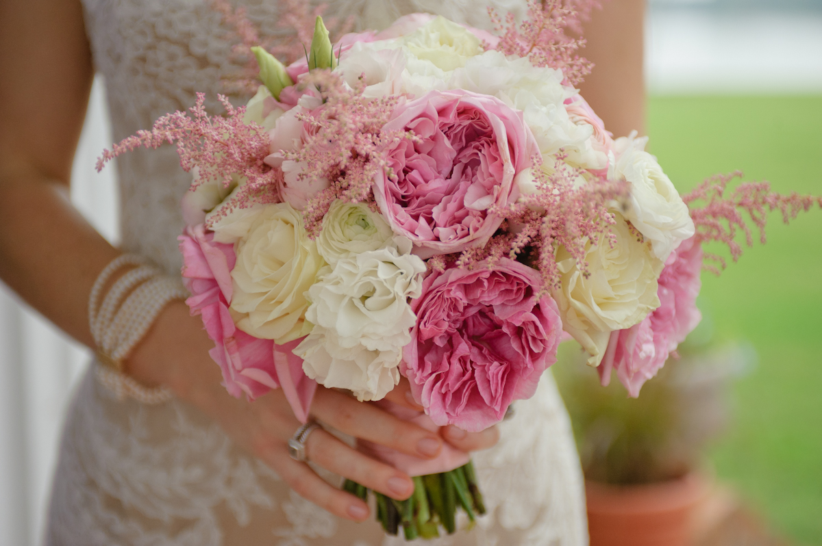 Pink bridal bouquets elegance simplicity inc wedding pink and white bridal bouquet mightylinksfo
