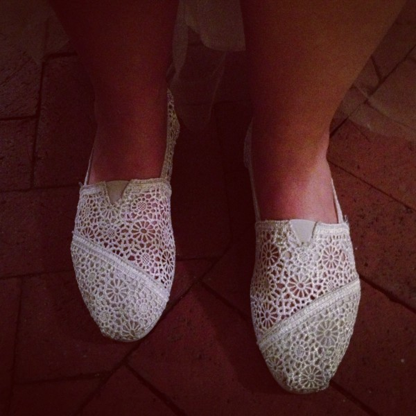 Tom's Shoes for brides