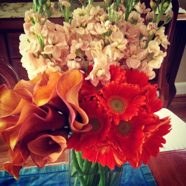 orange daily delivery flowers