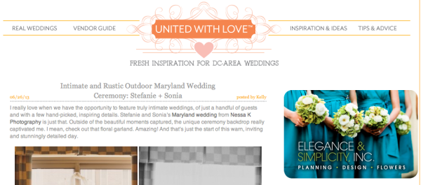 Same sex wedding featured on United with Love
