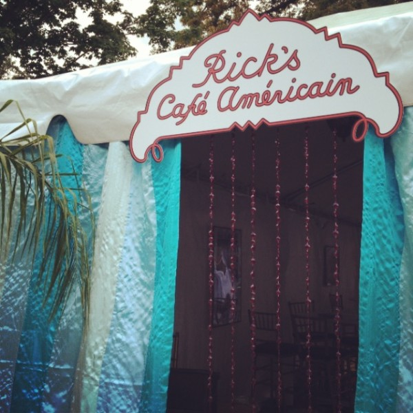 Casablanca Themed Event complete with Rick's Cafe Americain sign