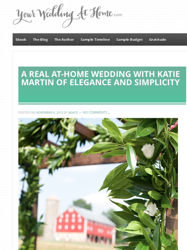 Your Wedding at Home feature