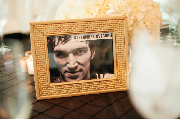 Alex Ovechkin table decor - dc wedding style