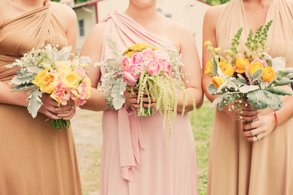 Bridesmaids style and flowers and wedding planning
